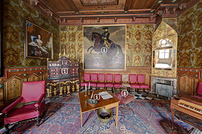 Virtual tour of the Council Chamber at Gripsholm Castle